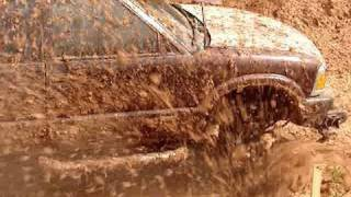 """S10  MUD TRUCK DISAPPEARS in Mud Bog on 44"""" Boggers"""