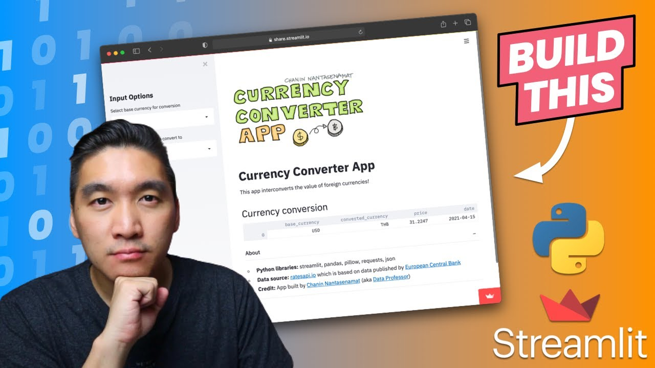 How to Build a Currency Converter App | Streamlit