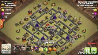 [TREMOR WAR CAN] TH9 vs TH9: Shattered Hog Riders Clash of Clans ITA