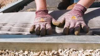 Laying Gravel in a Ground Grid