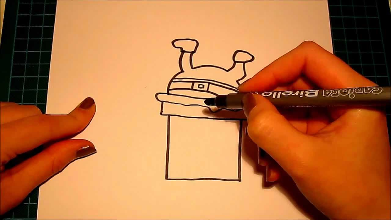 How to draw (for beginners): Santa Stuck In the Chimney..! - YouTube
