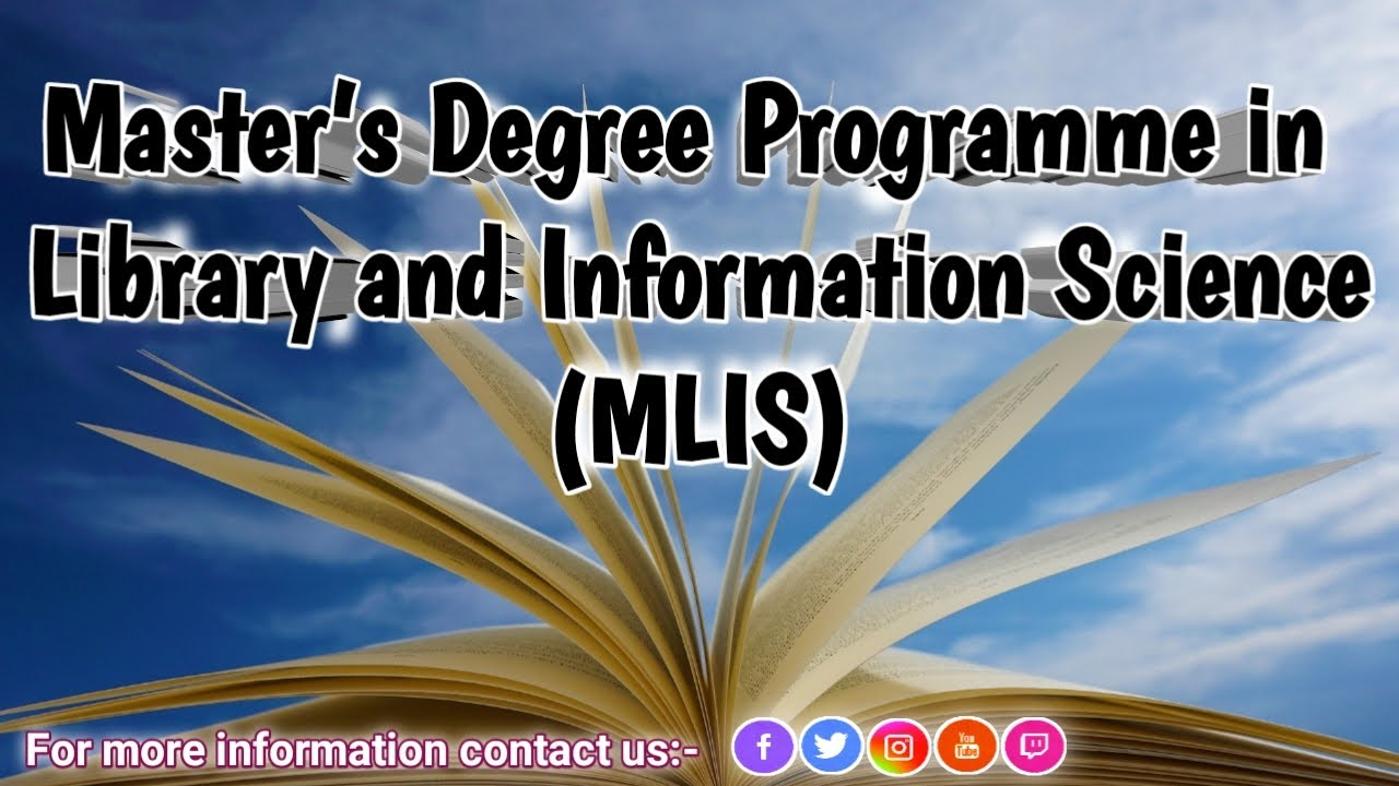 Download All about Masters in Library and Information Science   An introduction to MLIS Course