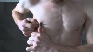 Nipple Piercing DIY,  Zweites Nippel Piercing selbst gestochen