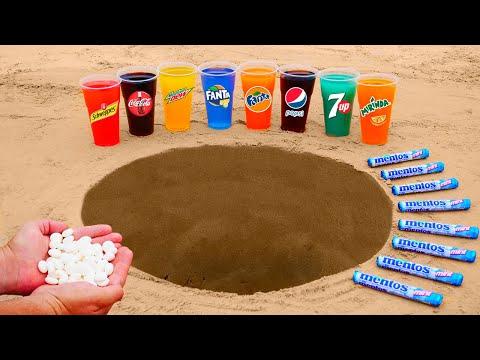 7up, Pepsi, Coca Cola, Mirinda, Mtn Dew, Fanta, Schweppes VS Mentos in Big Underground!