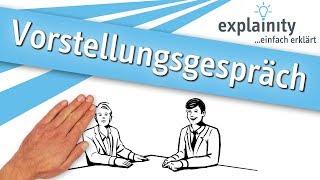 Vorstellungsgespräch einfach erklärt (explainity® Erklärvideo)