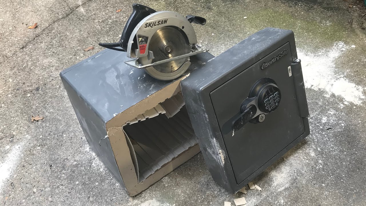 756 Sentry Safe Cut In Half Fast