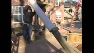 How To Build A Pergola - 12.erecting Posts For Pergola