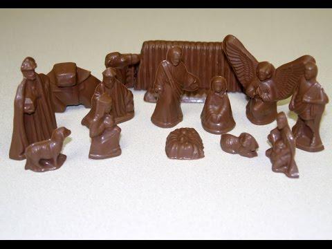 How to make a chocolate nativity scene