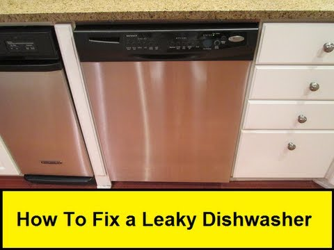 how to fix a leaky dishwasher youtube. Black Bedroom Furniture Sets. Home Design Ideas