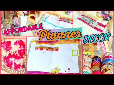 PLAN WITH ME: CUTE & INEXPENSIVE PLANNER IDEAS | Sensational Finds