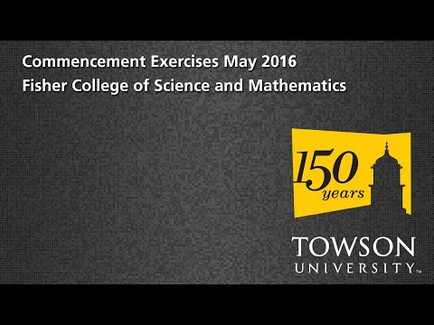 TU Commencement May 2016 - Fisher Coll. of Science and Mathematics