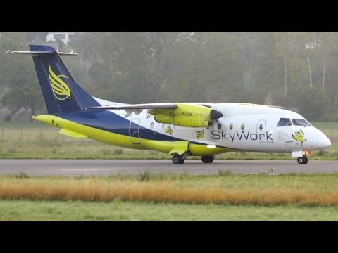 Skywork Airlines Dornier 328 Turboprop Early Take-Off at Bern