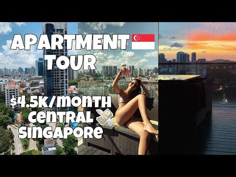 2 bedroom apartment tour in Singapore / condo rent 2021