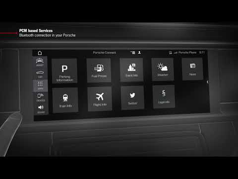 """How to Video Panamera (G2)  """"PCM based Services - Bluetooth Connection in your Porsche"""""""