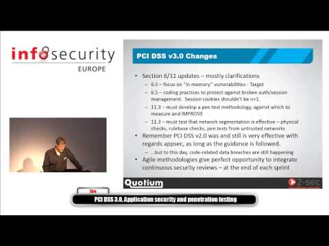 PCI DSS 3.0, Application Security and Penetration Testing (@InfoSec 2014)