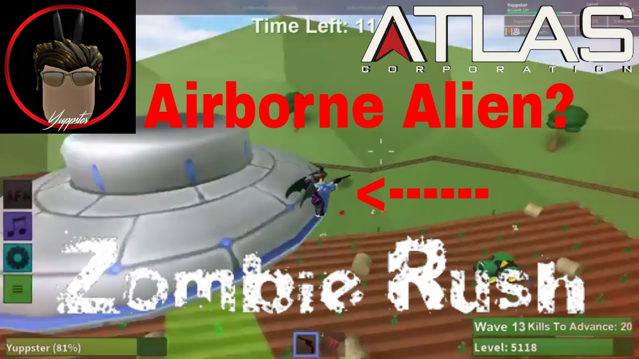 Roblox Zombie Rush Airborne Alien Badge Farm Map Youtube