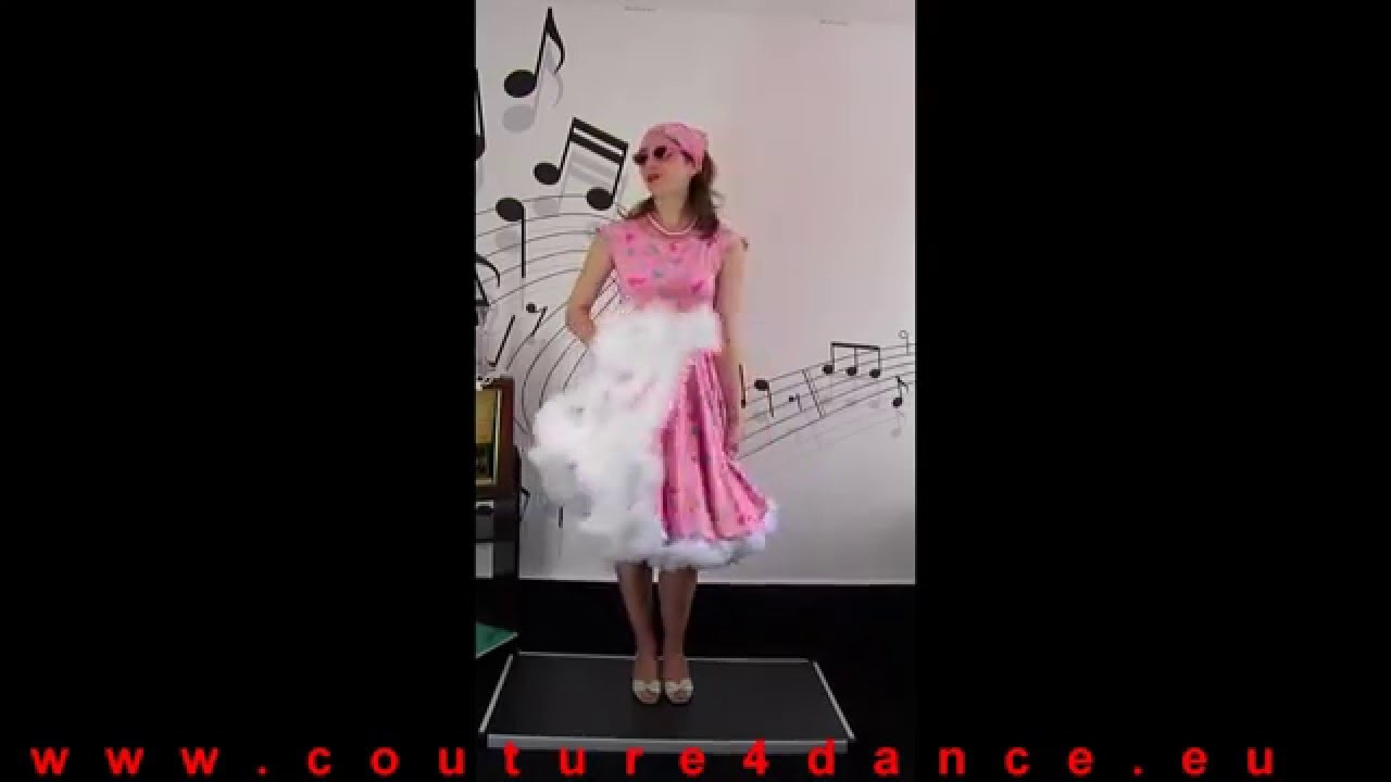 Tellerkleid / Circledress zum Petticoat Modell Memphis, Muster Pink