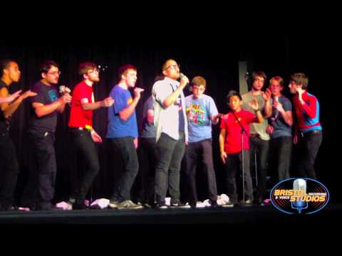 The Boston-Latin High Wolftones perform at High School A Cappella Armageddon 2013