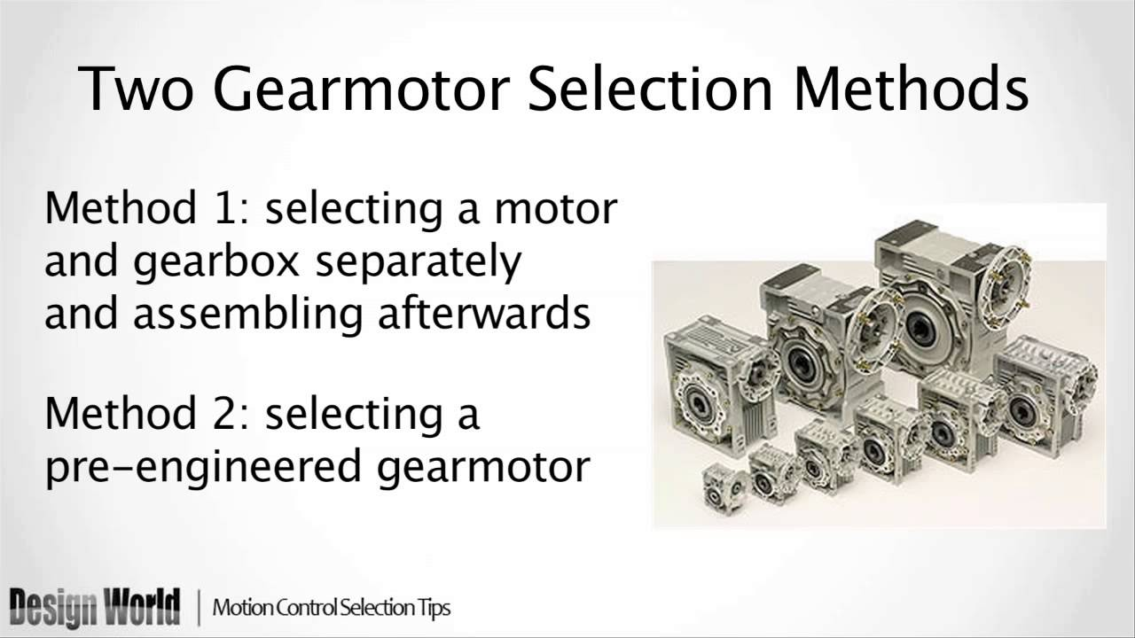 How to Select a Gearmotor