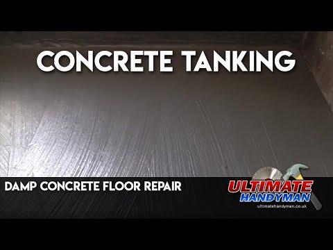 Damp concrete floor repair | concrete tanking