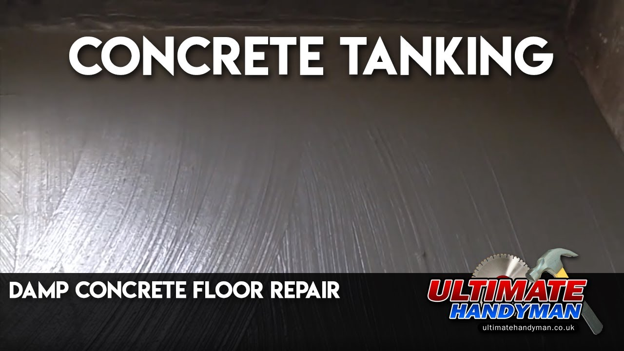 Damp Concrete Floor Repair Concrete Tanking YouTube - Basement floor repair