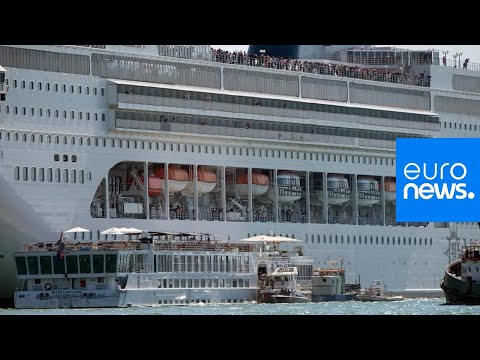 Watch: Giant cruise ship hits tour boat and dock in Venice