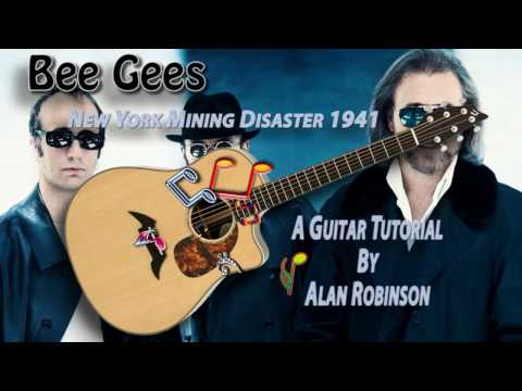 New York Mining Disaster 1941 - Bee Gees - Acoustic Guitar Lesson (easy-ish)