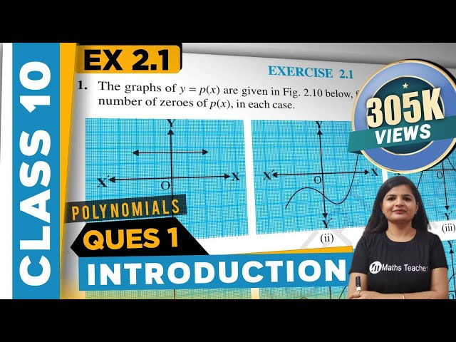 Polynomials | Chapter 2 Ex 2.1 Intro & Q 1 | NCERT | Maths Class 10th