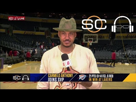 Carmelo Anthony on what it's like to pass people on all-time scoring list | SC with SVP | ESPN