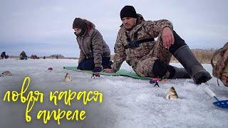 Семейная рыбалка на карася в начале апреля ловля на мормышку