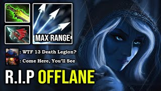 CRAZY MULTISHOT SLOW 100% Deleted LC From Offlane with Max ATK Range Drow Ranger IMBA DotA 2
