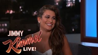 "Lea Michele on Vomiting While Singing ""Let it Go"""