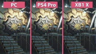 4K Fallout 4 PC vs. PS4 Pro vs. Xbox One X Frame Rate Test Graphics Comparison