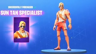 "NEW ""SUN TAN SPECIALIST"" Skin In Fortnite!!! - LATE NIGHT STREAM! (Fortnite Battle Royale)"