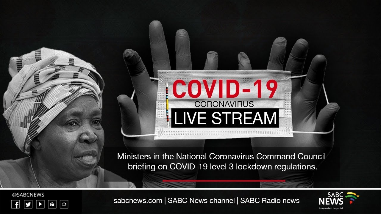 Live: Media briefing on COVID-19 level 3 lockdown regulations