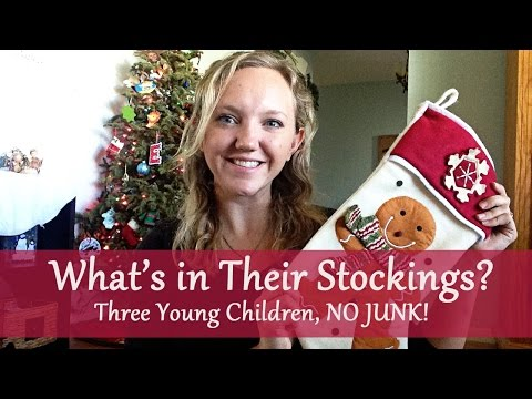 What's in Their Stockings? Three young kids, NO JUNK!