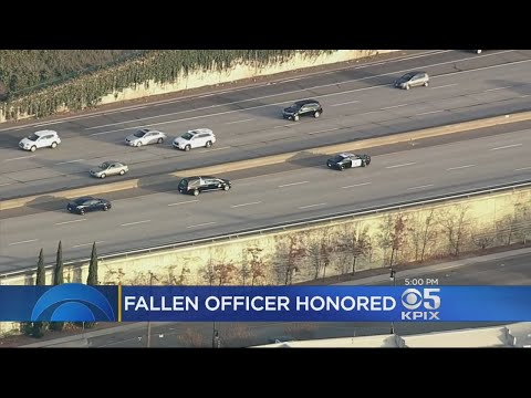 Fallen CHP Officer Honored In Police-Escorted Procession To Funeral Home