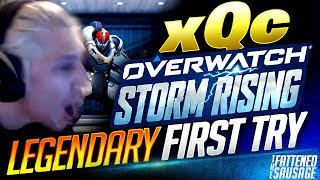 xQc Tries New STORM RISING Mode w/ Seagull & m0xyy On LEGENDARY | Overwatch
