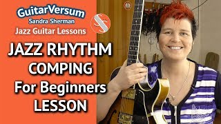 JAZZ GUITAR COMPING RHYTHMS - LESSON FOR BEGINNERS