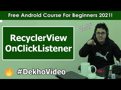 Adding OnClick Listener to RecyclerView | Android Tutorials in Hindi #34 thumbnail