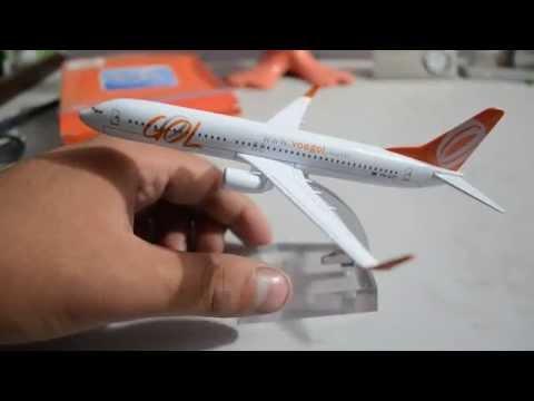Metal Brazil gol plane model boeing b737 model aircraft model gol 16cm airplane