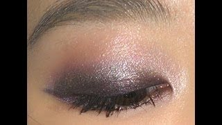 Purple smoky eyes for monolids紫色晚宴烟熏妆(适合内双)