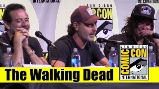 the walking dead comic con 2016 full panel andrew lincoln norman reedus jeffrey dean morgan