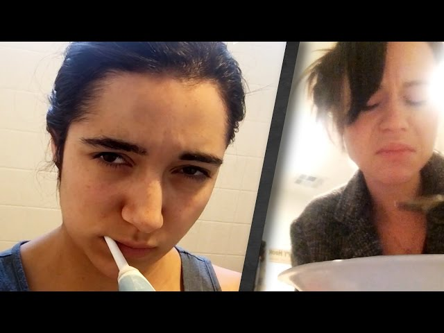 Girlfriends Try Their Boyfriends' Morning Routines