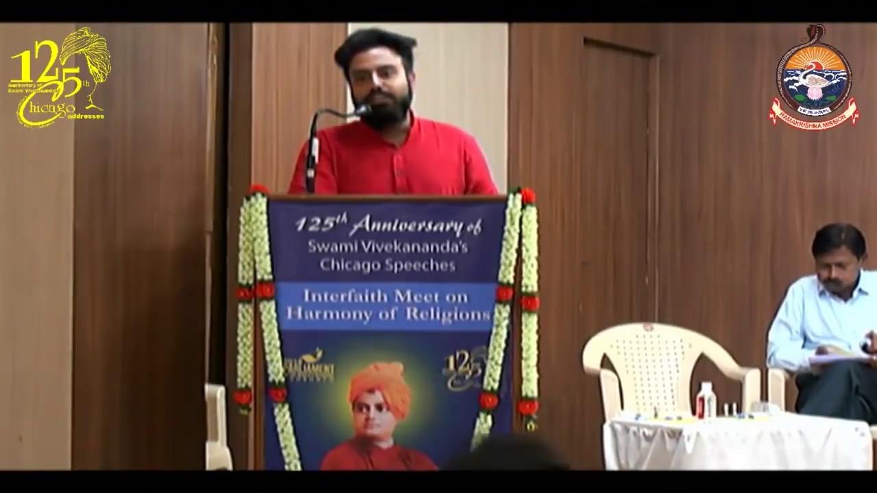 Kunal Sharma On Youth Religion At Interfaith Meet On Harmony Of