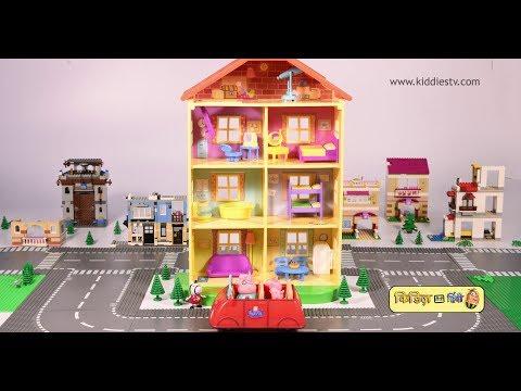 Peppa Pig moves to her New House | Story in hindi | Toy videos | Hindi Kids video | Kids | Kiddiestv