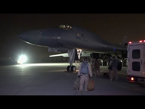 US Defense Department releases images of final checks on B-1 Bomber before Syria strikes