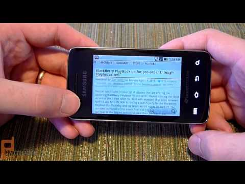 Samsung Galaxy Prevail (Boost Mobile) video tour - part 2 of 2