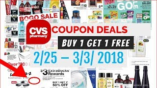 CVS Coupon Deals February 25 - March 3, 2018 Buy 1 get 1 free