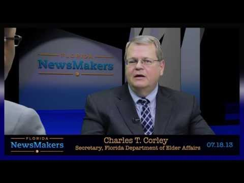 Florida NewsMakers: Secretary, Florida Dept. of Elder Affairs Charles T. Corley
